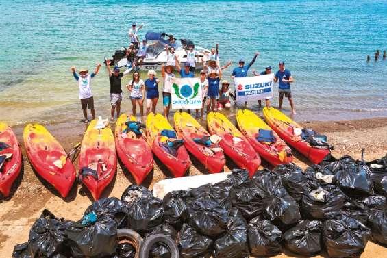 350 kg de déchets retirés de la baie Toro