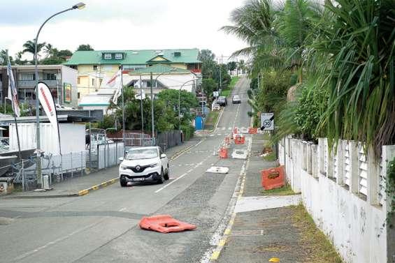 Début de la deuxième phase de travaux route du Port-Despointes