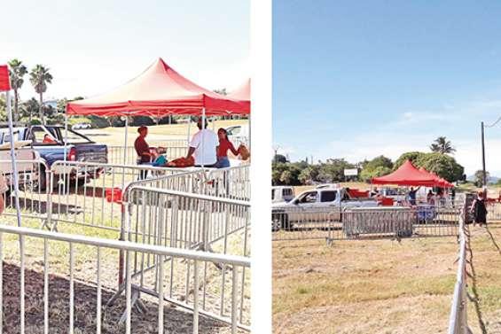 Le « drive market » reconduit ce week-end à La Foa