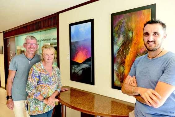 « Fusion » : les volcans racontés en peinture et en photo
