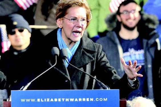 Elizabeth Warren part  à l'assaut de la Maison Blanche