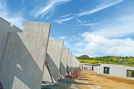 La construction des Pavillons d'Eugénie avance à grands pas