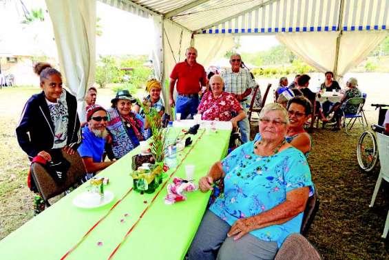 Les familles se sont retrouvées au centre de retraite