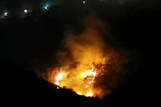 Incendie en cours au Ouen Toro