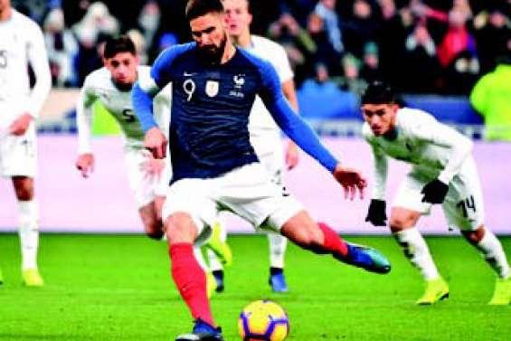 L'équipe de France finit  sa belle année par une victoire