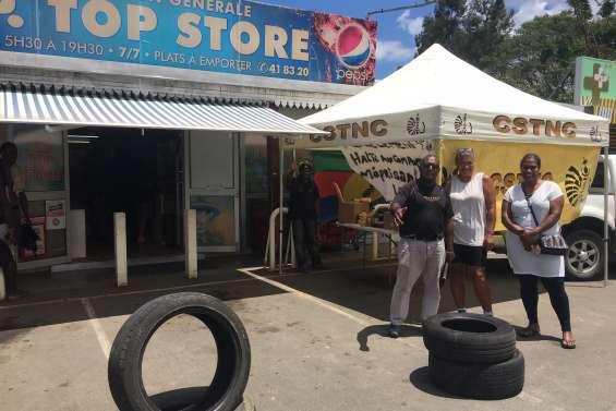 Mouvement social au Top Store à Dumbéa-rivière