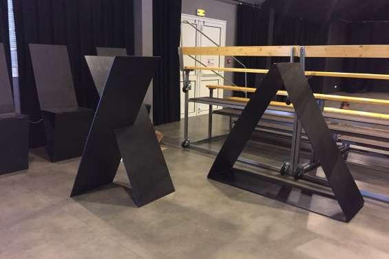 La première exposition itinérante du Studio 56 en cours de création
