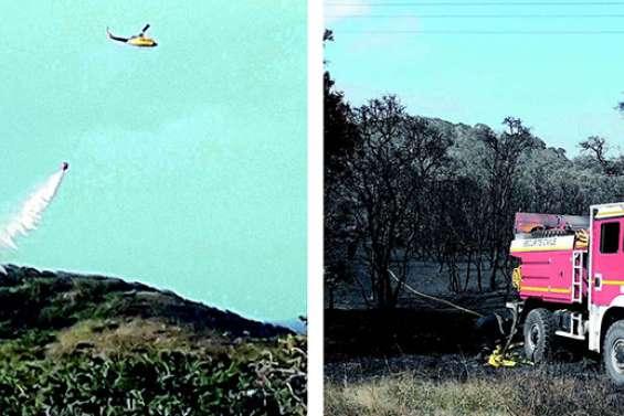 Des incendies combattus partout dans le pays