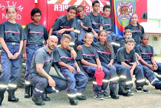 Les jeunes sapeurs-pompiers prennent leur rôle au sérieux