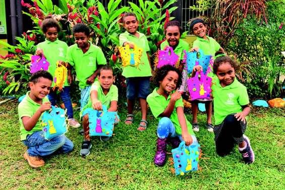 Les écoliers de l'école Kawa-Cyprien-Braino ont préparé Pâques