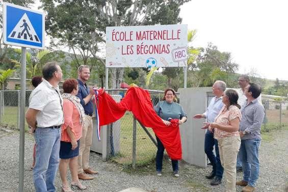 La Foa : les travaux de l'école Les Bégonias inaugurés