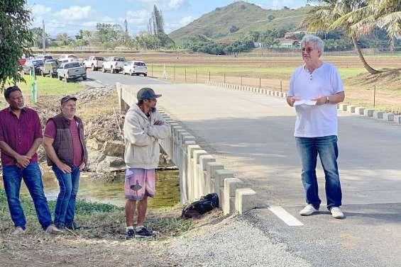 Bourail : Le nouveau pont de Téné a été présenté, à une semaine de la Foire