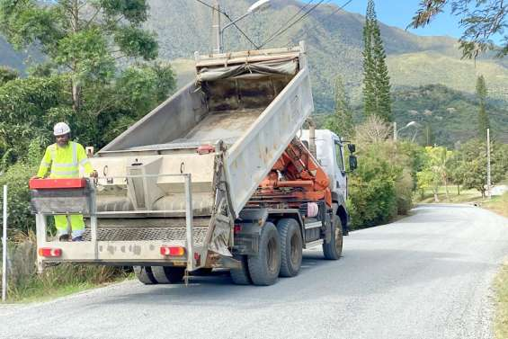 Païta : Les travaux de voirie se multiplient dans la commune