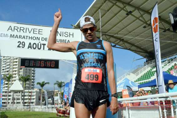 Bastien Rouzoul et Natalia Prado remportent le semi-marathon àNouméa