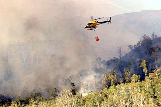 Un incendie s'est déclaré au pic aux Morts à Dumbéa
