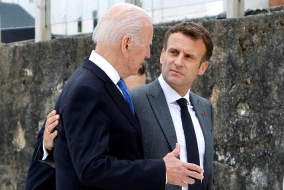 Sous-marins: Macron et Biden promettent de restaurer