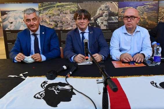 Carles Puigdemont en Sardaigne catalane après sa libération