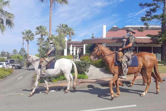 Sécurité : le Peloton de surveillance et d'intervention à cheval en renfort à La Foa