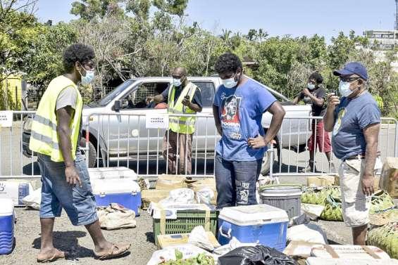 La distribution des vivres en provenance de Maré a débuté au Port autonome