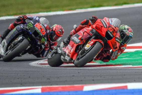 MotoGP: Bagnaia en pole pour contrarier Quartararo