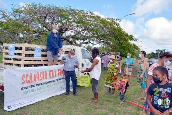 Une tonne de squash distribuée gratuitement à la population