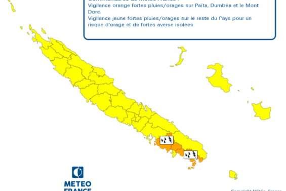 Trois communes placées en vigilance orange pour des risques de fortes pluies et d'orages