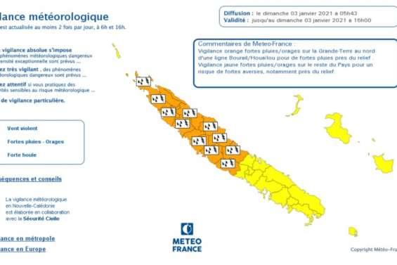 Météo: vigilance orange fortes pluies et orages dans le Nord
