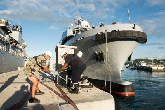 Le d'Entrecasteaux de retour à Nouméa