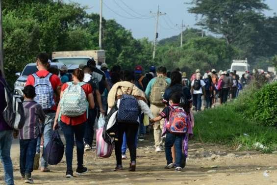 Honduras: 3.000 migrants en route pour tenter de gagner les Etats-Unis