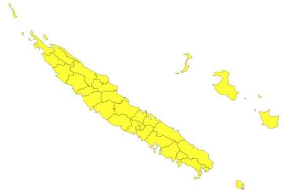 Fortes pluies et orages sur l'ensemble de la Nouvelle-Calédonie