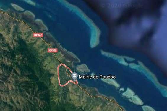 Affaissement à Pouébo: la route coupée
