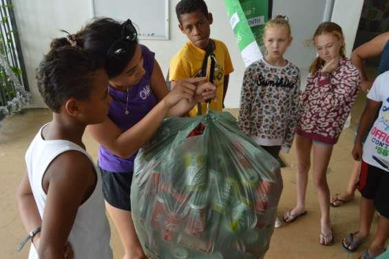 24,5kg de déchets collectés par les enfants à l'école Dorbritz