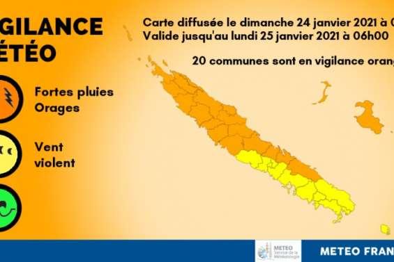 Vingt communes en vigilance orange fortes pluies et orage