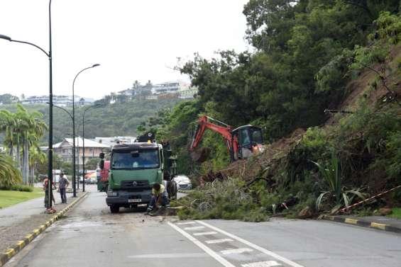 Deux glissements de terrain samedi à l'Orphelinat