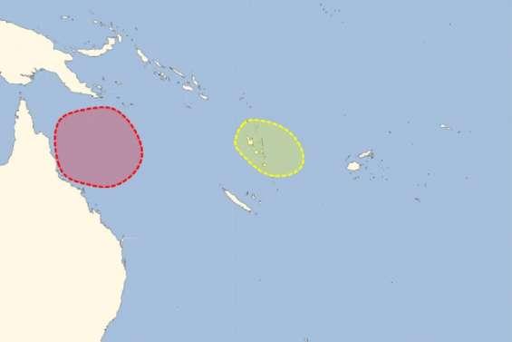 Risque fort d'un phénomène tropical en mer de Corail