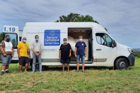 Du mobilier remis aux sinistrés du cyclone Niran