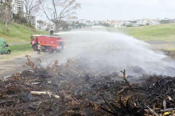 Magenta: plusieurs dépôts de végétation incendiés