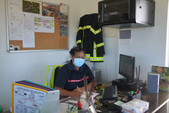 Marie-Annick Seraphim, sapeur-pompier, moins présente à l'aérodrome