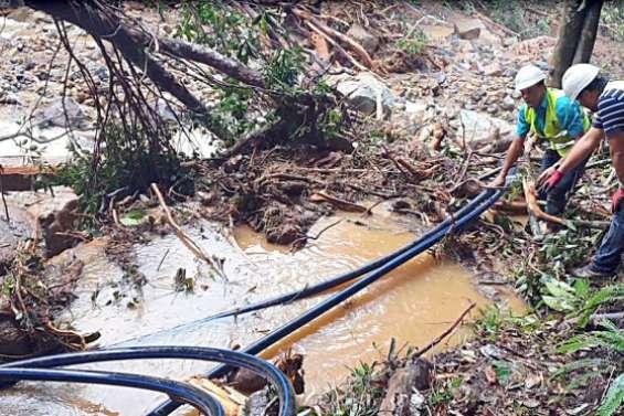 Des problèmes d'approvisionnement d'eau à Païta, au Mont-Dore et à Dumbéa à cause des fortes pluies