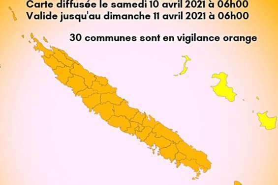 Trente communes placées en vigilance orange