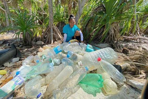600kg de déchets ramassés àTetiaroa