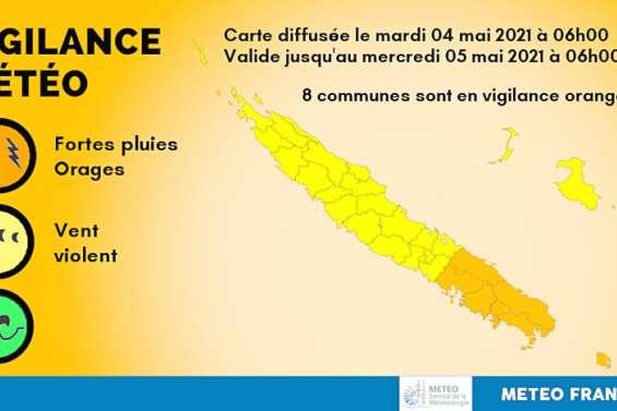 8 communes en vigilance orange fortes pluies et vents violents