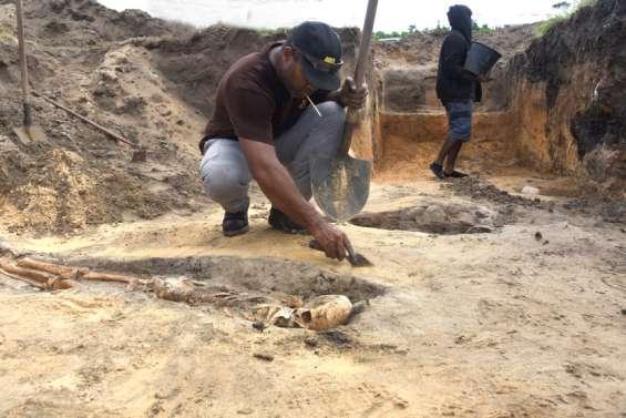 Les archéologues ont déterré des ossements pouvant dater du bagne