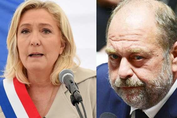 Régionales: première passe d'armes Le Pen-Dupond-Moretti