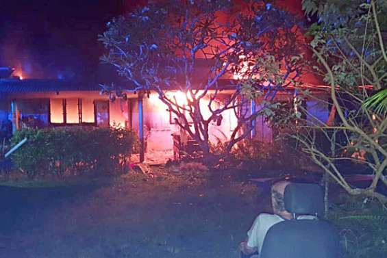 Maison incendiée à Touho: les auteurs ont été incarcérés