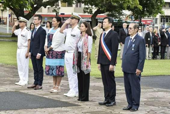 Hommage rendu aux morts pour la France en Indochine