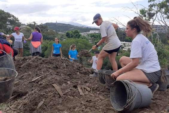 L'activité reprend sur la colline avec une plantation menée par Caledoclean et la FOL