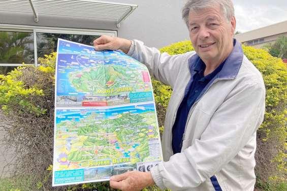 Il conçoit un plan touristique insolite du Mont-Dore et de la rivière Bleue
