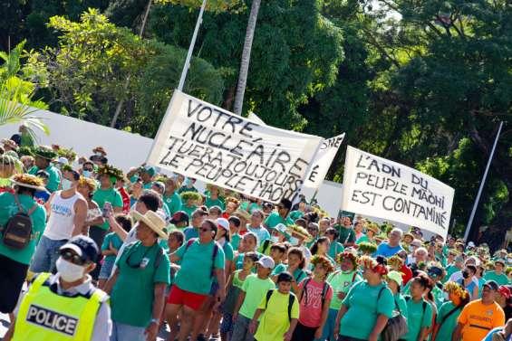 Essais nucléaires: 2500 manifestants à Papeete