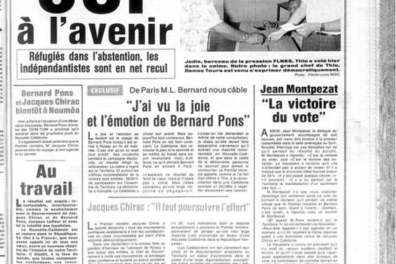 1987: au rythme du premier référendum